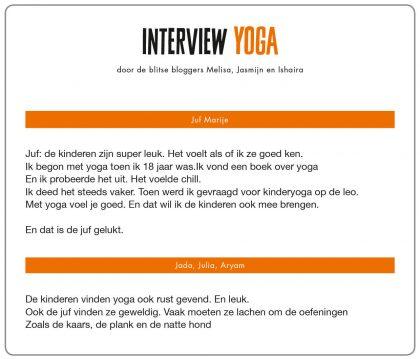 Interview Yoga